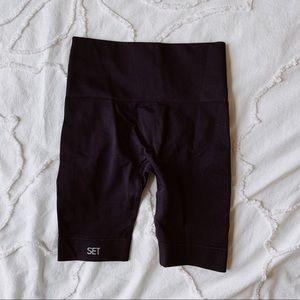 SET active black biker shorts